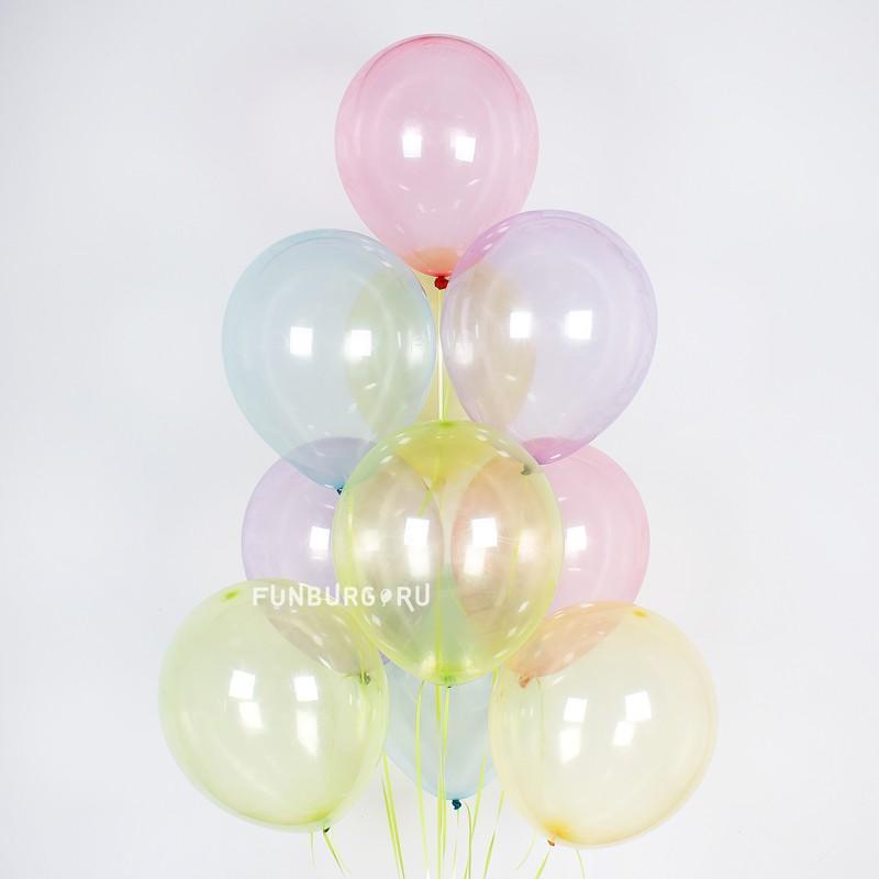 Шарики без рисунка «Ассорти (мыльные пузыри)» фото
