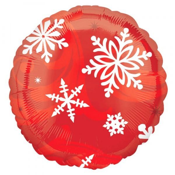 Шарик из фольги «Красная снежинка»Из фольги с рисунком<br>Размер: 45 см (18)Производитель: Anagram, США<br>