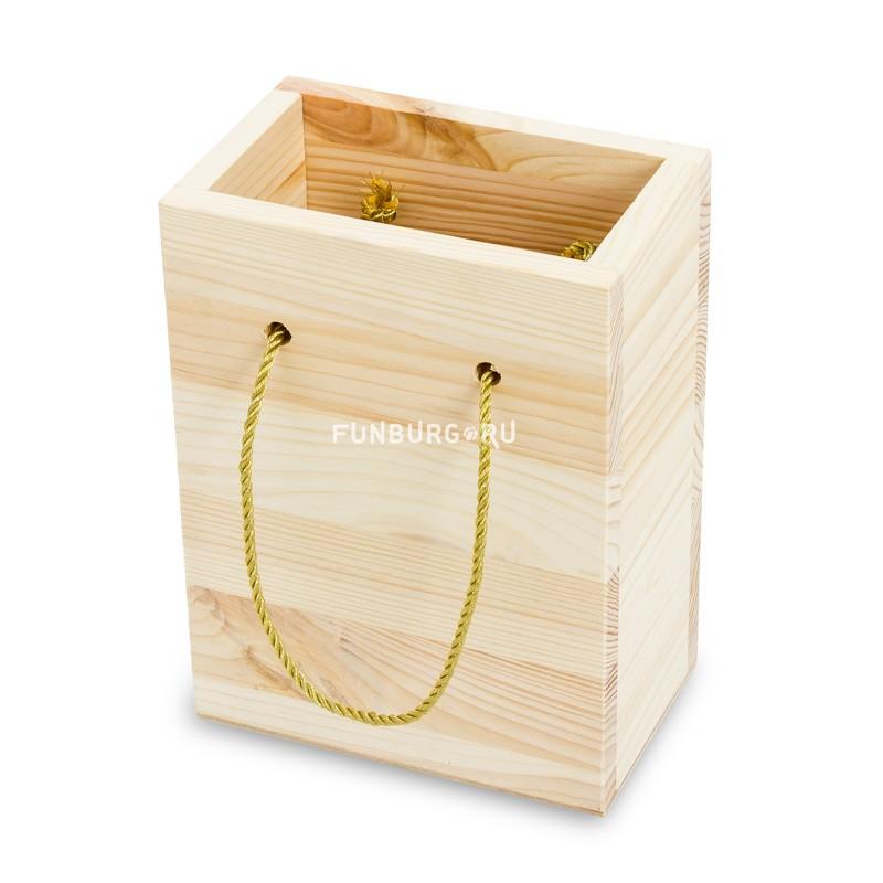 Деревянное кашпо «Пакет»Упаковка подарков<br> <br>Размер:<br><br><br>20?9?15 см<br><br><br> <br>Материал:<br><br><br>дерево<br><br>