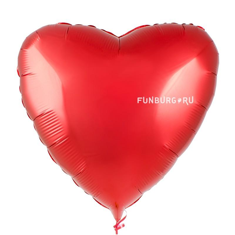 Шар из фольги «Красное сердце» фото