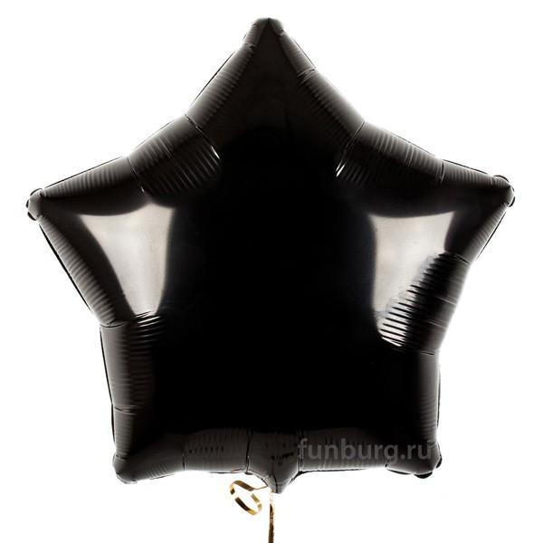 Шар из фольги «Черная звезда»Из фольги без рисунка<br>Размер: 45 см (18)<br>Производитель: Flexmetal, Испания<br>