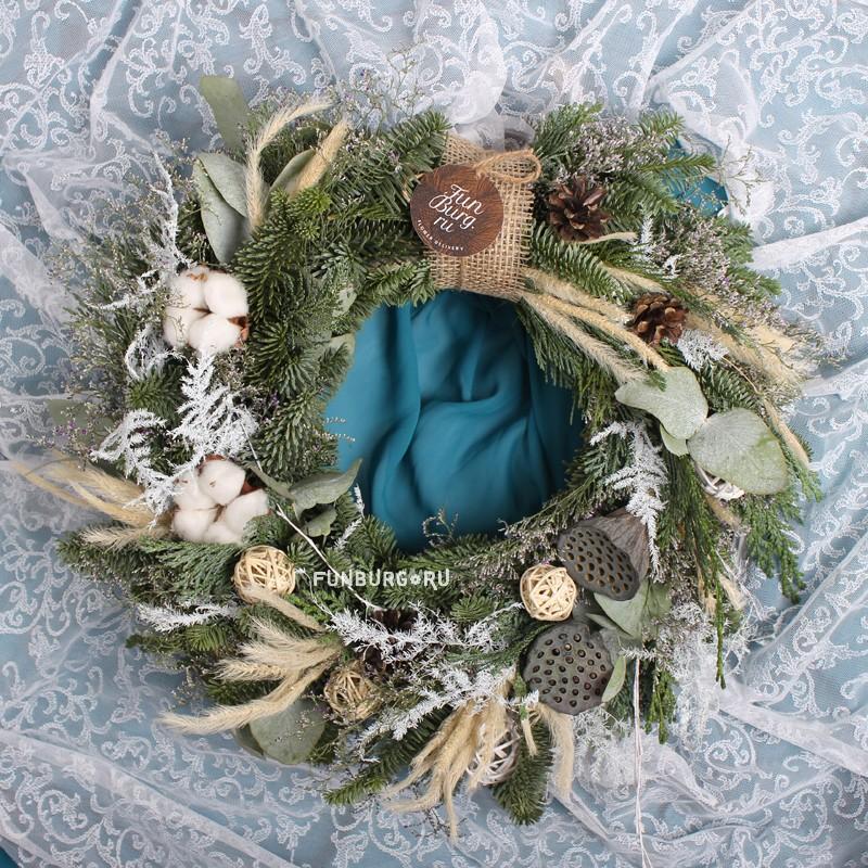 Купить Новогодний венок «Морозная свежесть»