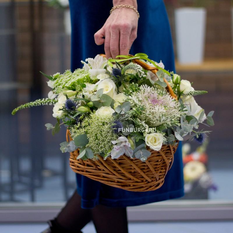 Корзина цветов «Нимфа»