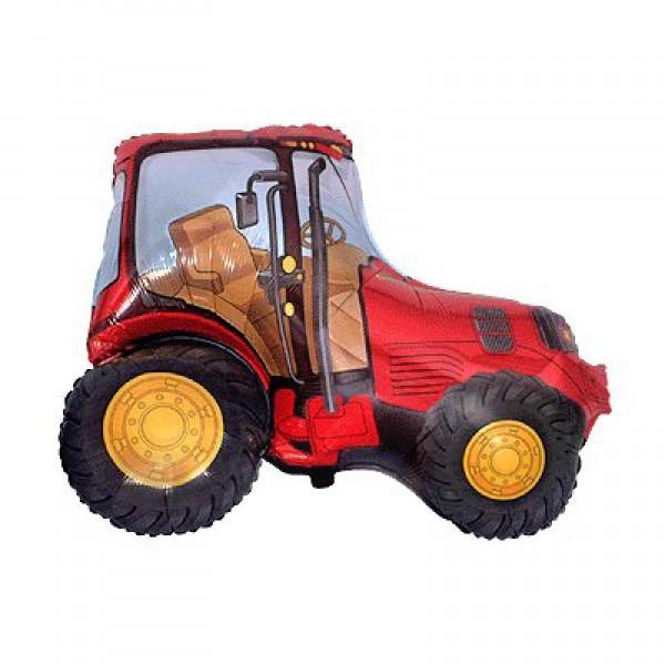 Шар из фольги «Красный трактор» фото