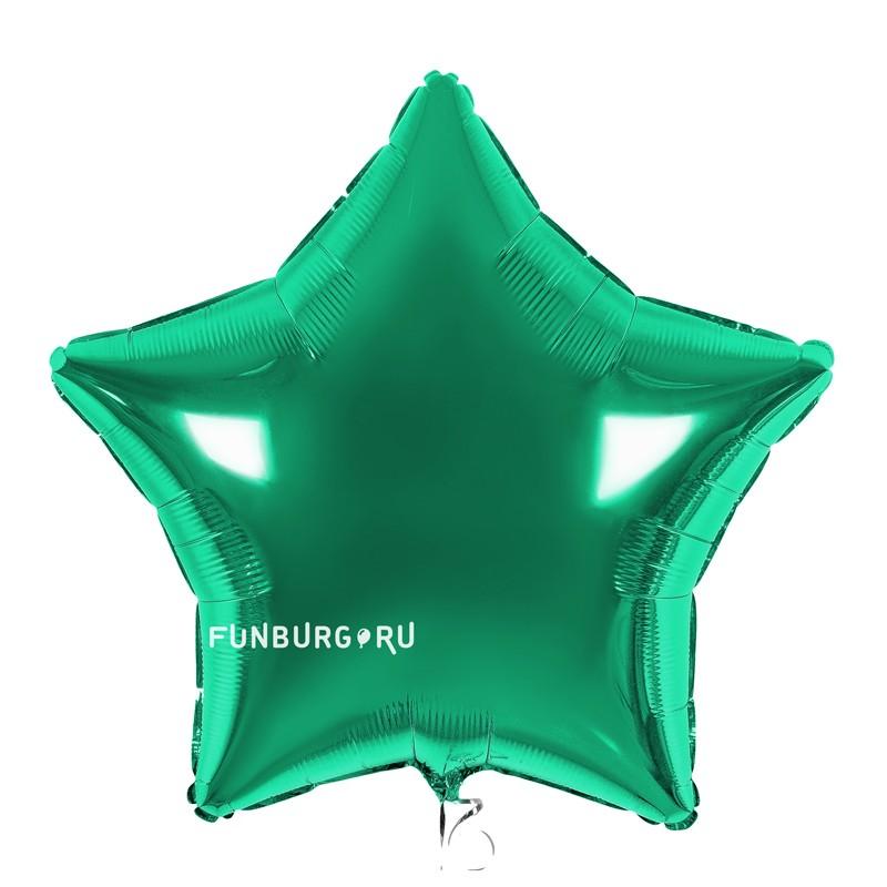 Купить Шар из фольги «Зеленая звезда»