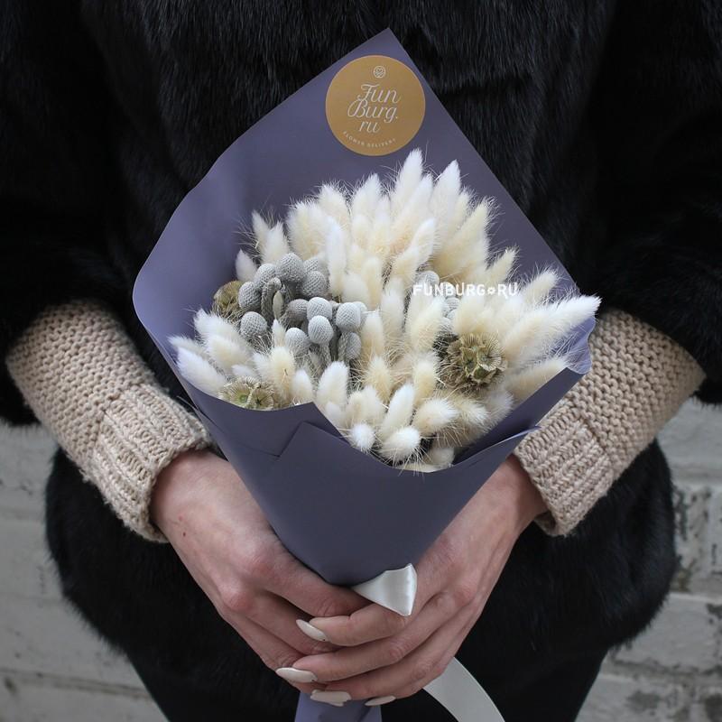 Купить Букет из сухоцветов «Тёплый»