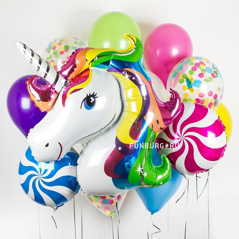 Купить Набор шаров «С единорогом»