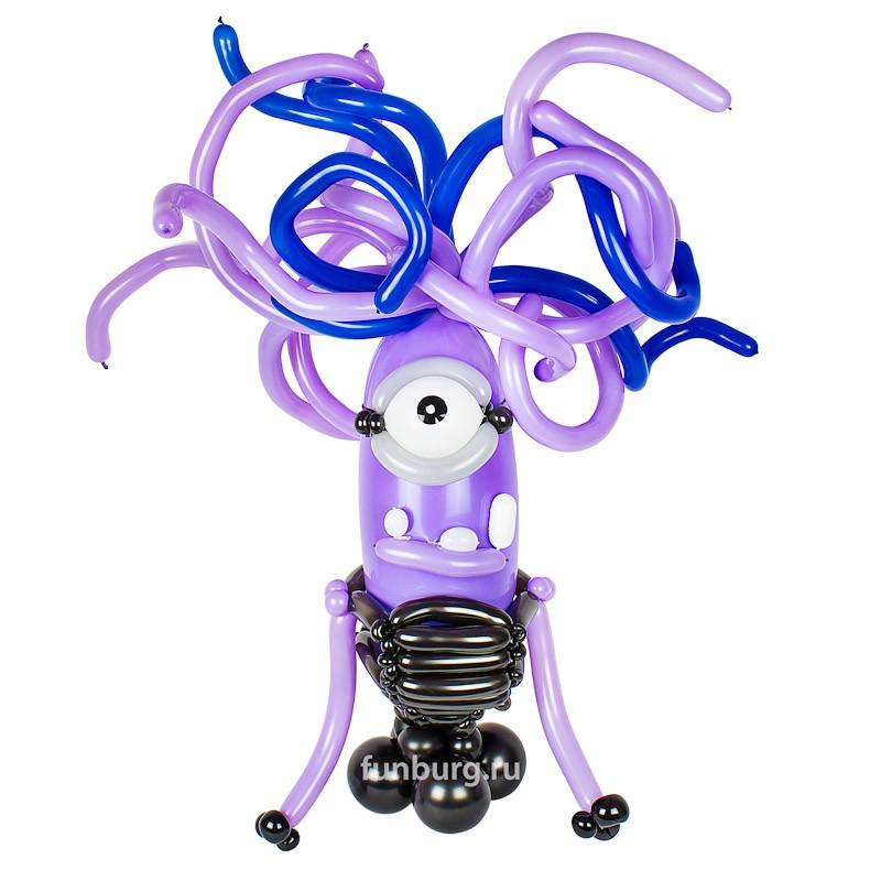 Фигура из шаров «Миньон Сиреневый» фото