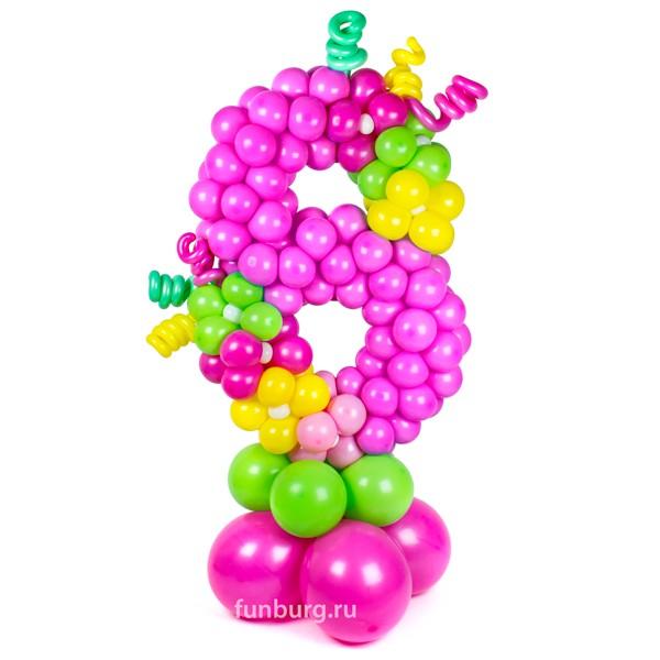 Фигура из шаров «Восьмерка на подставке» фото