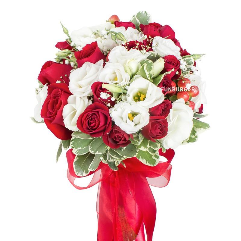 Купить Букет невесты «Клубника со сливками»