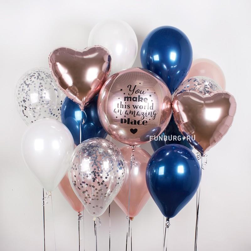Набор шаров «Midnight Rose»Наборы шаров<br><br> Вы можете корректировать количество шаров в наборе по своему желанию.<br><br>