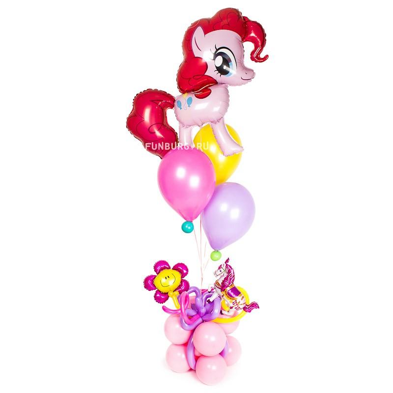 Фигура из шаров «Подарок озорной девчонке» фото