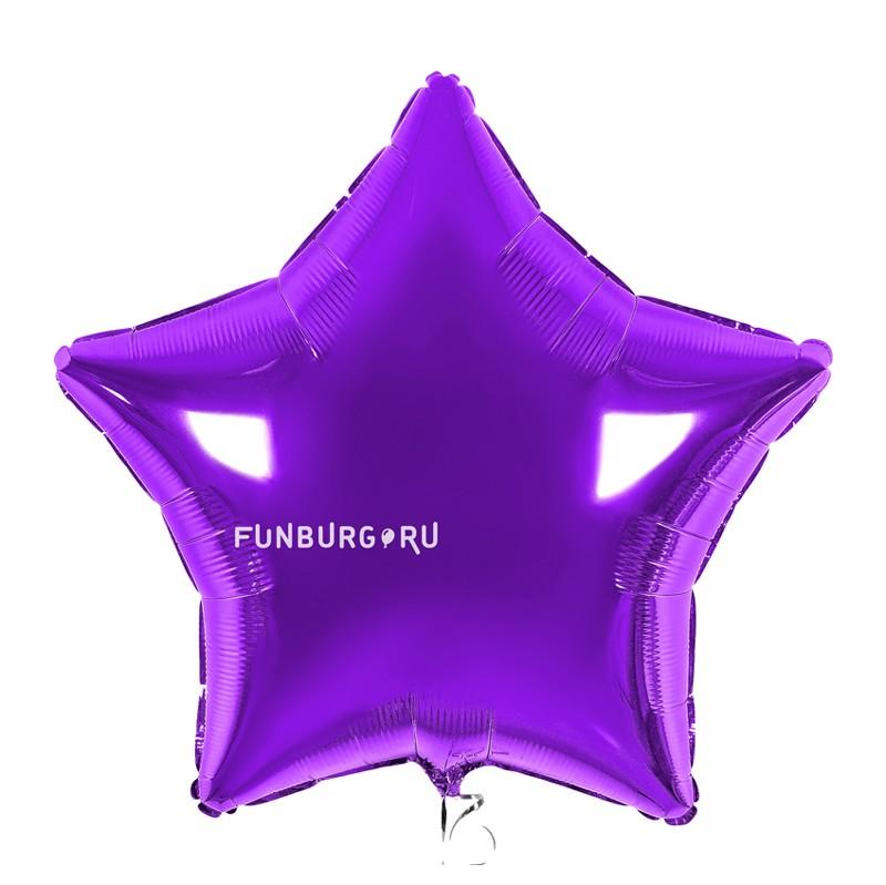 Купить Шар из фольги «Фиолетовая звезда»