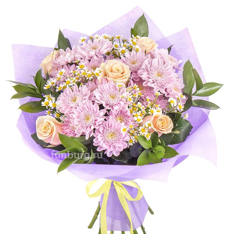 Букет «Майский день»с хризантемами<br><br>