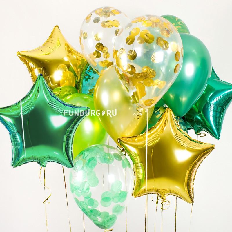 Набор шаров «23 Февраля»23 Февраля<br>Цвет: ассорти защитных цветов<br>
