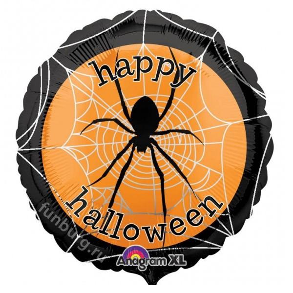 Шар из фольги «Happy Halloween»Из фольги с рисунком<br>Размер: 45 смПроизводитель: Anagram, США<br>
