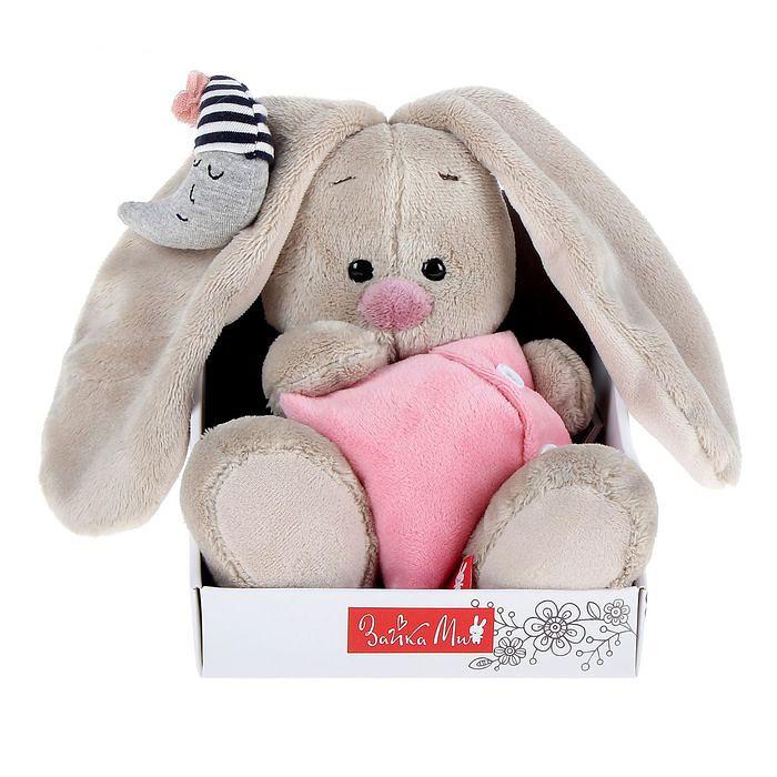 Мягкая игрушка «Зайка Ми с подушкой и месяцем»Зайка Ми<br> <br>Размер:<br><br><br>высота 15 см<br><br> <br>Бренд:<br><br><br>Зайка Ми<br><br>