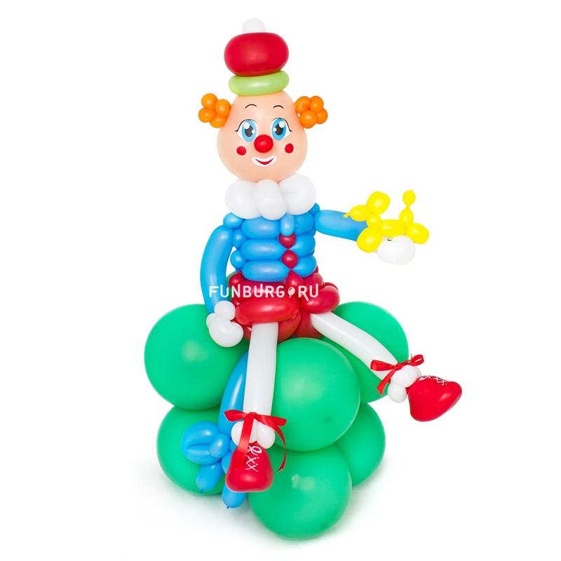 Фигура из шаров «Маленький клоун»Детям<br>Высота: 70-80 см<br> Производство: Funburg.ru<br>