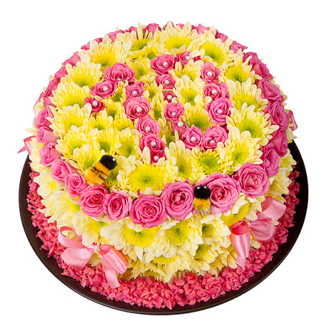 Игрушка из цветов «Ароматный десерт»Игрушки из цветов<br> <br>Размер:<br><br><br>диаметр 25 см, высота 15 см<br><br>