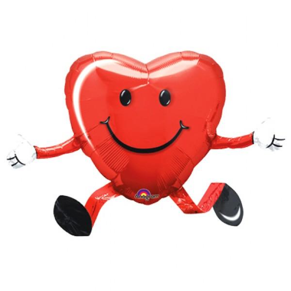 Ходящий шар «Сердце»Ходящие шары<br>Размер: 45 см (18)Производитель: Anagram, США<br>