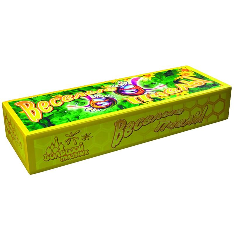 Наземный фейерверк «Веселые пчелы»Фонтаны и петарды<br>Вес: 50 граммовРазмер: 10?5?2 смФасовка: 12 шт<br>