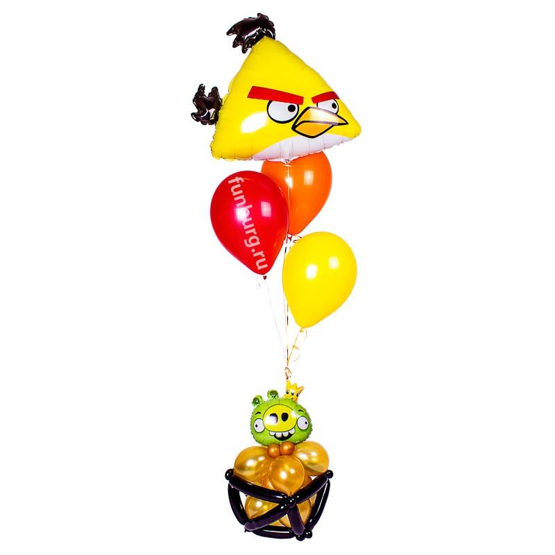 Фигура из шаров «Angry Bird «Чак»»Все фигуры<br>Высота: 180 см<br> Производство: Funburg.ru<br>