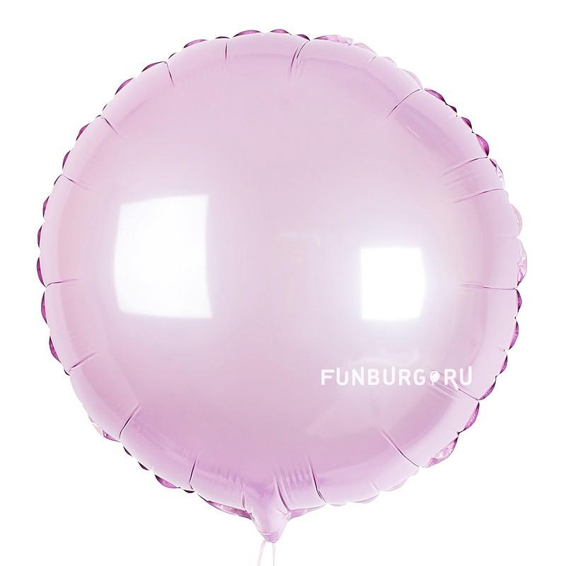 Шар из фольги «Розовый круг»Из фольги без рисунка<br>Размер: 45 см (18)<br>Производитель: Flexmetal, Испания<br>