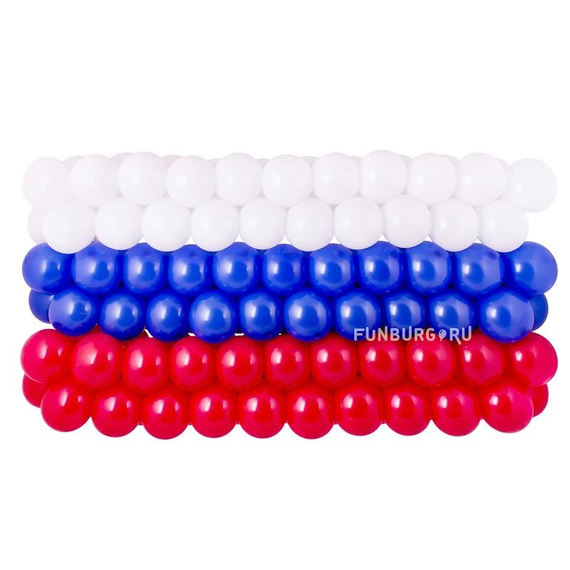 Панно из шаров «Российский флаг»Все фигуры<br>Размеры: 50?150 см<br> Производитель: Funburg.ru<br>