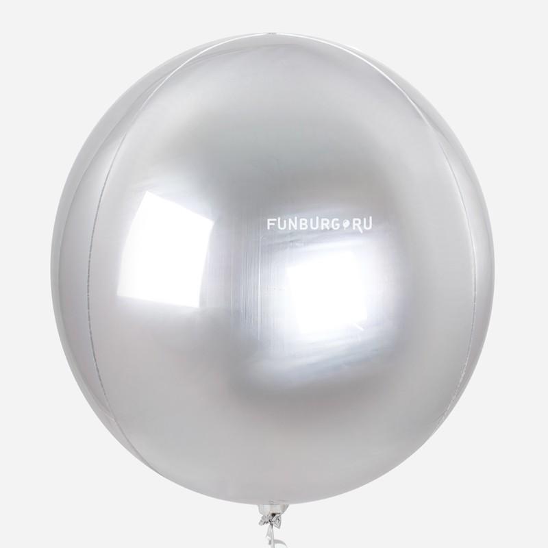 Шар из фольги «Сфера» (серебряная)На вечеринку<br>Размер: 49 см (20)<br>Цвет: серебряный (зеркальный)<br>Производитель: Anagram, США<br>