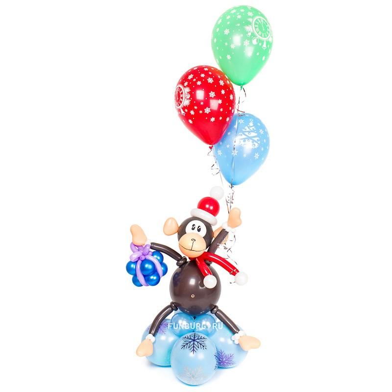 Фигура из шаров «Новогодняя обезьянка»Все фигуры<br>Высота: 160 см<br> Производитель: Funburg.ru<br>