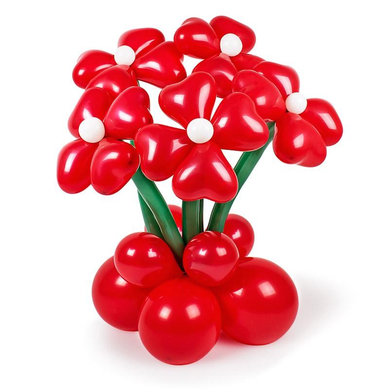 Фигура из шаров «Доброе утро!»Цветы из шаров<br>Состав: 5 цветков, горшочек<br>Высота: 60-70 см<br>Производство: Funburg.ru<br>
