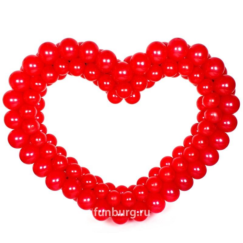 Фигура из шаров «Красное сердце»Все фигуры<br>Размер: 100?120 см<br> <br><br> Сердце может быть выполнено в другом цвете или размере, в зависимости от вашего желания! Консультируйтесь с операторами интернет-магазина.<br><br> Производство: Funburg.ru<br>