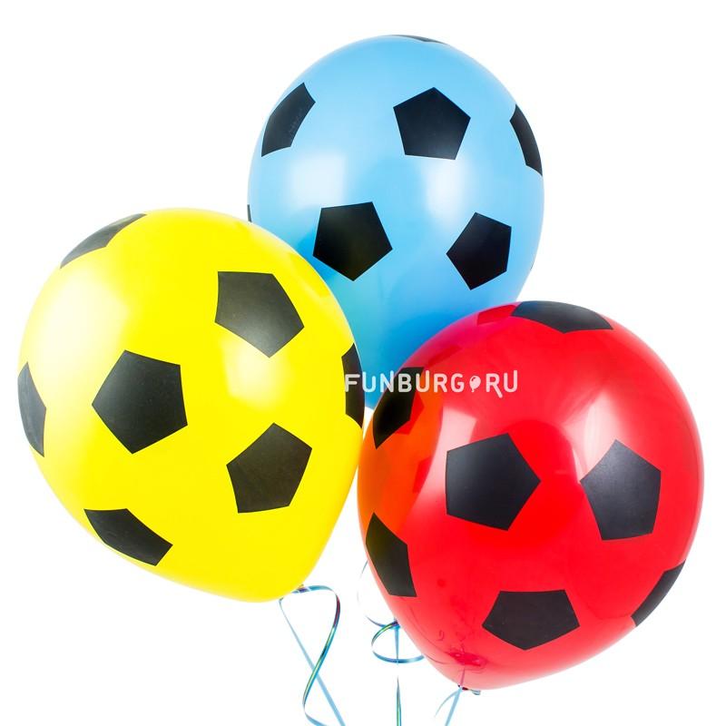 Воздушные шары «Футбольные»Латексные с рисунком<br>Размер: 30 см (12)<br>Цвет: ассорти.<br>Производитель: Sempertex, Колумбия<br>