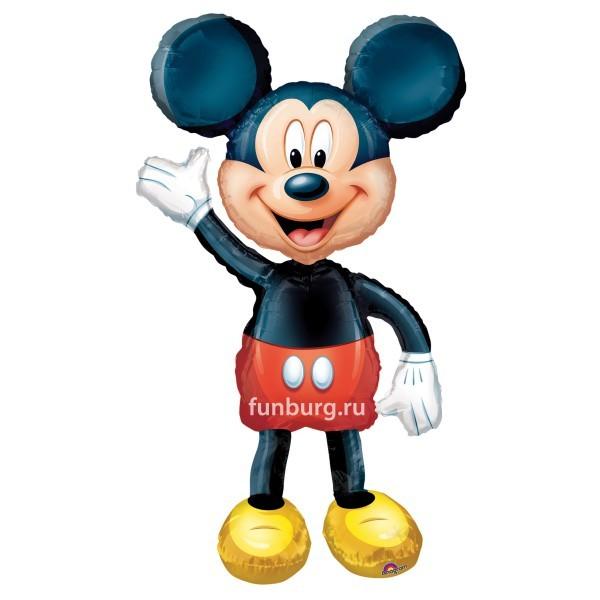 Ходячий шар «Микки Маус»Ходящие шары<br>Размер: 96?132 см Производитель: Anagram, США<br>