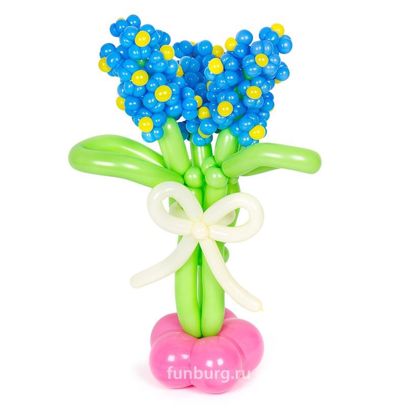 Фигура из шаров «Гиацинт»Цветы из шаров<br>Высота: 40-50 смПроизводитель: Funburg.ru<br>