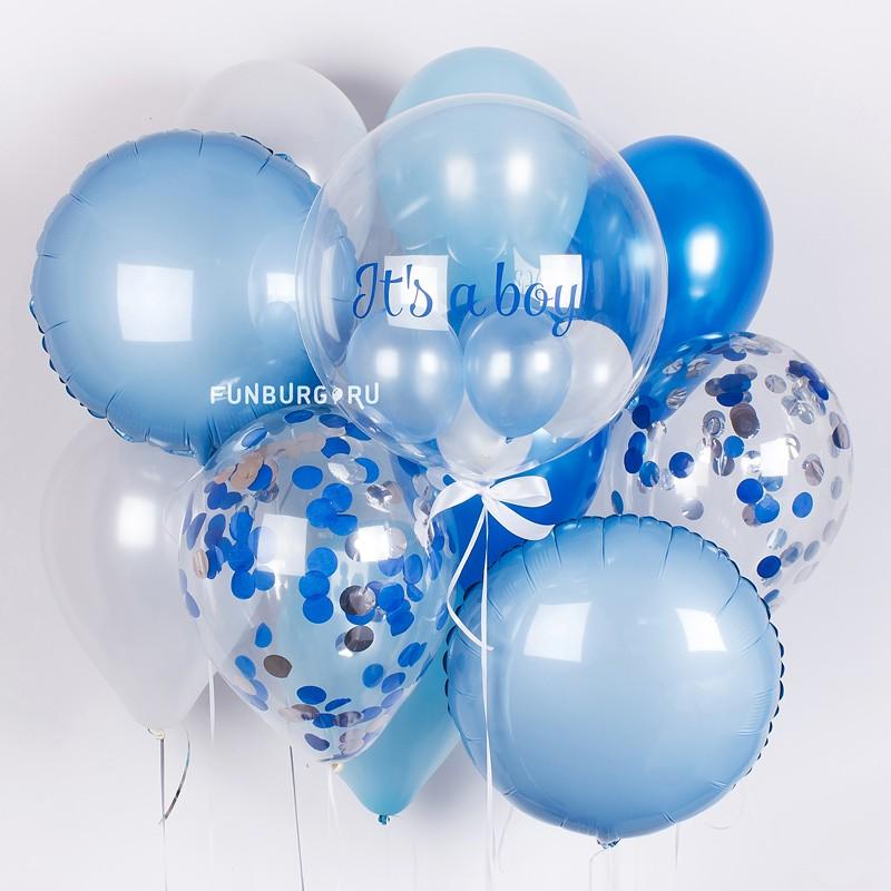 Набор шаров «К рождению малыша»Рождение ребенка<br>Вы можете корректировать количество шаров в наборе по своему желанию.<br>