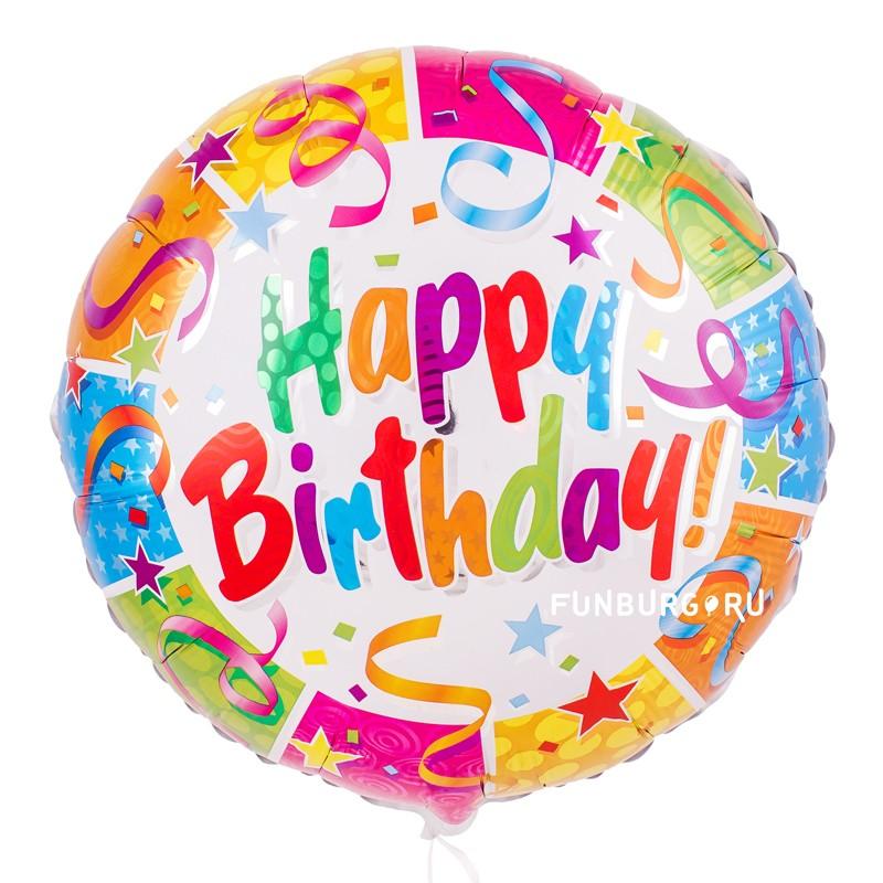 Шар из фольги «Вечеринка на День рождения»День рождения<br>Размер: 45 см (18)Производитель: Flexmetal, Испания<br>