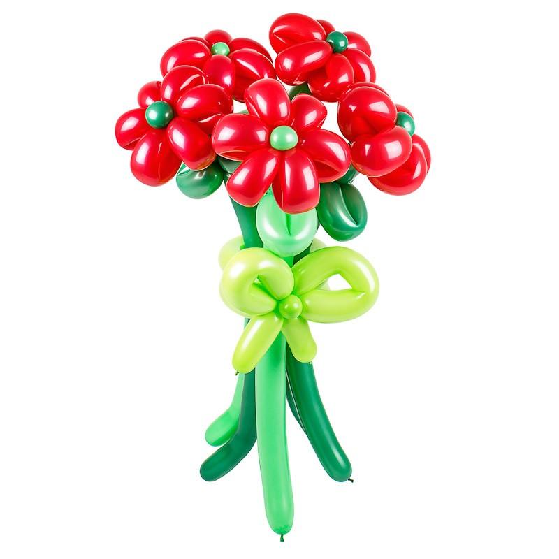 Фигура из шаров «Яркий букет»Цветы из шаров<br>Размер: 60 см<br> Производитель: Funburg.ru<br> Состав: 5 цветков из шаров и бантик<br>