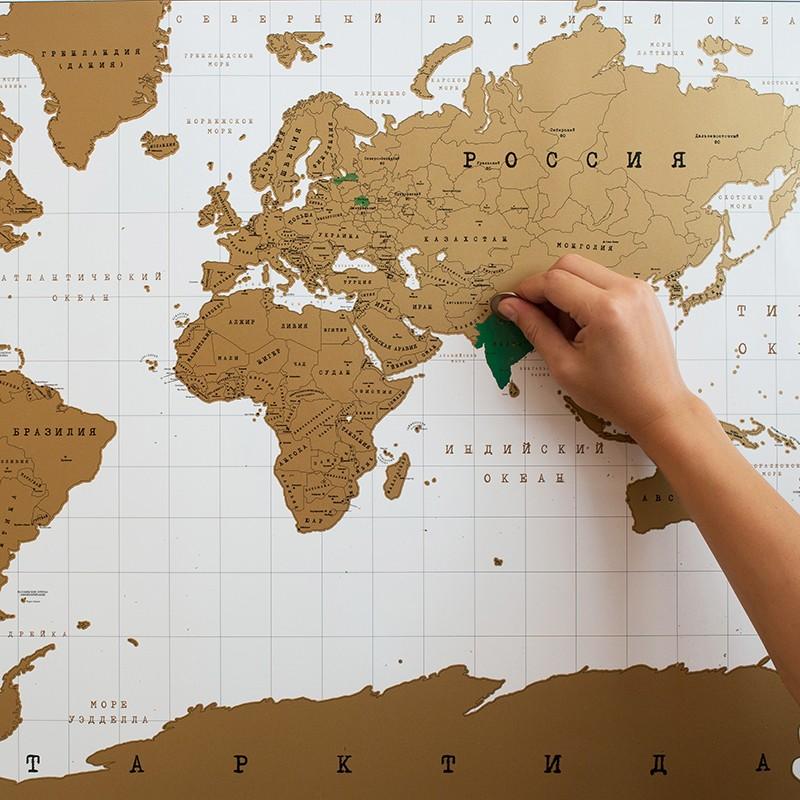Карта мира «True map»<br>Состав: карта в картонном тубусе, инструкция<br>Размер без упаковки: 84?59 см<br><br>