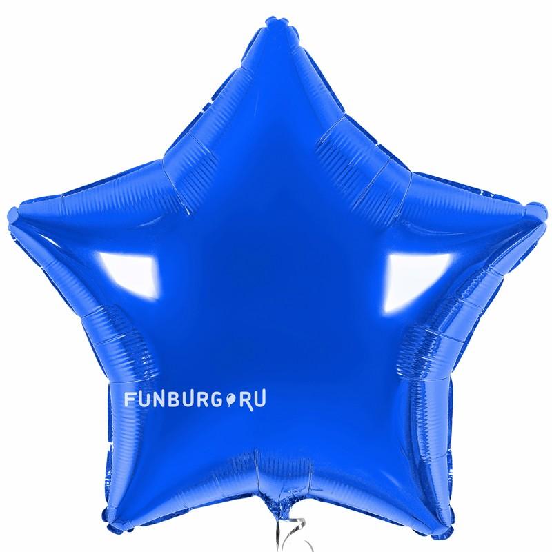Шар из фольги «Большая синяя звезда»Из фольги без рисунка<br>Размер: 81 см (32)<br>Производитель: Flexmetal, Испания<br>