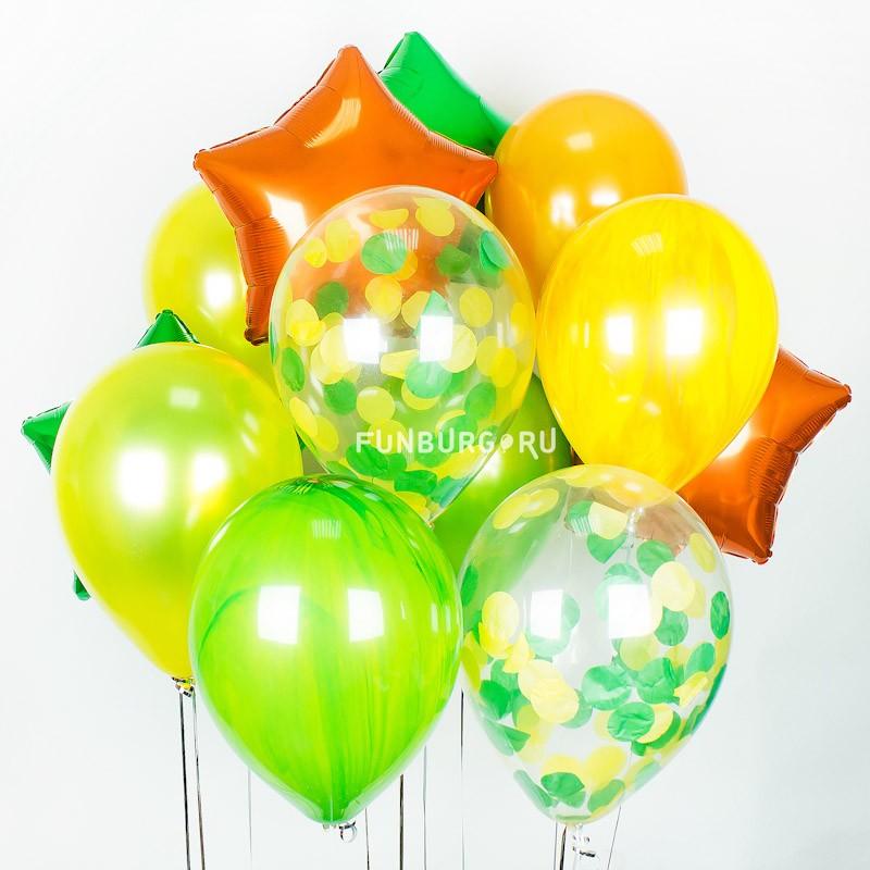 Набор шаров «Оранжевое настроение»Букеты шаров<br>Вы можете корректировать количество шаров в наборе по своему желанию.<br>