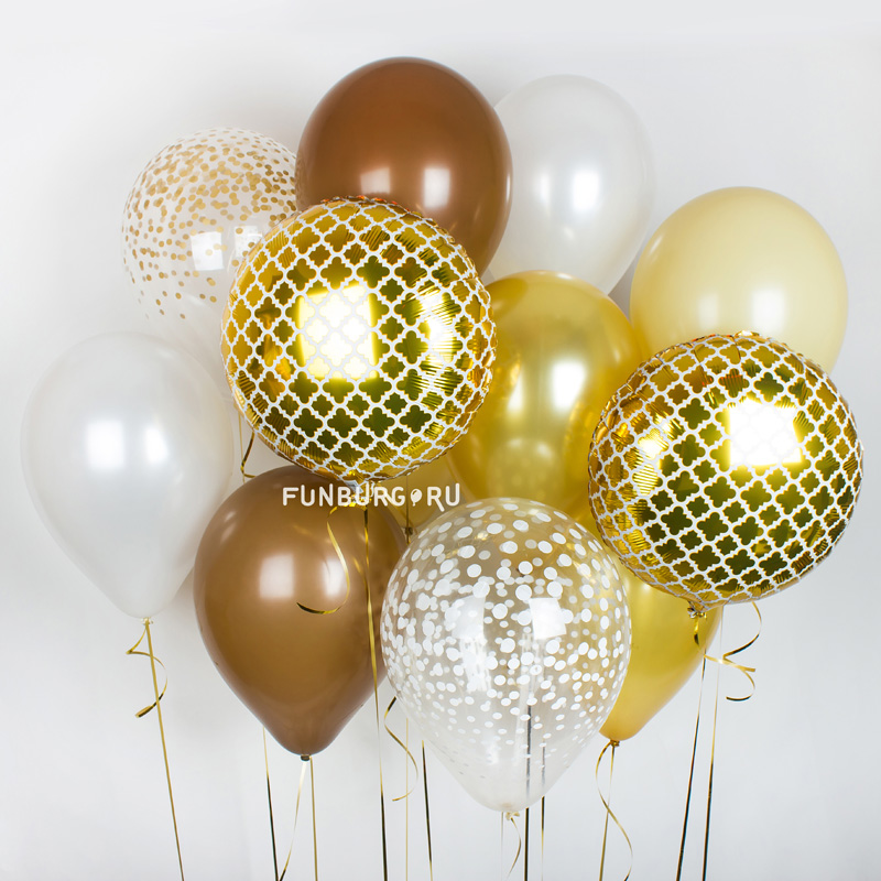 Набор шаров «Жемчужное сияние»Букеты шаров<br>Вы можете корректировать количество шаров в наборе по своему желанию.<br>