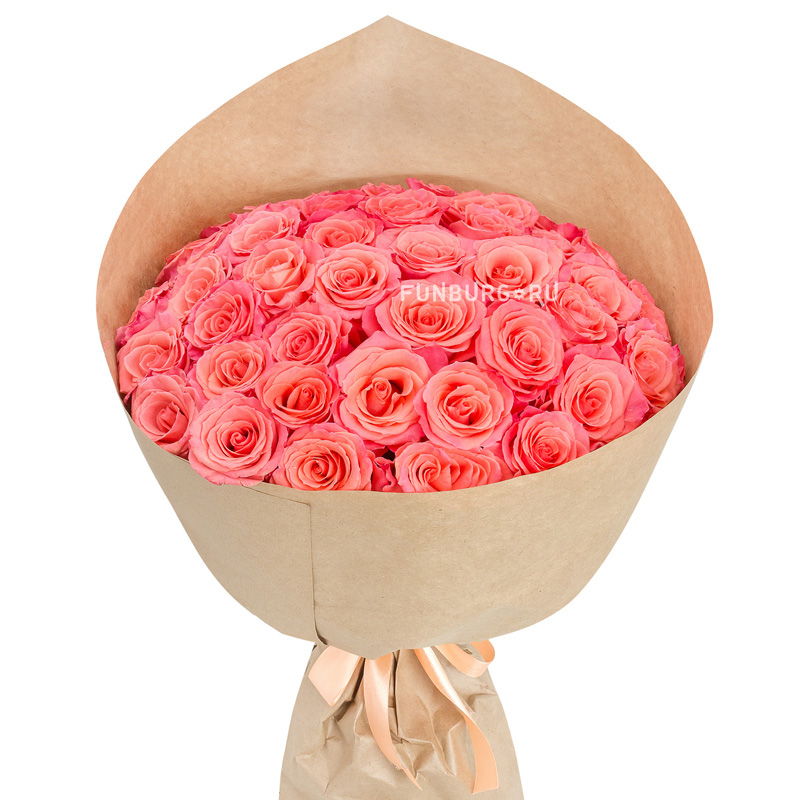 Букет «Марципан»с розами<br> <br>Размер:<br><br><br>диаметр 45 см, высота 50 см<br><br>