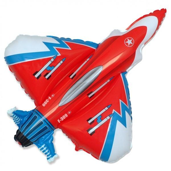 Шар из фольги «Истребитель»Из фольги с рисунком<br>Длина: 99 см Производитель: Flexmetal, Испания<br>