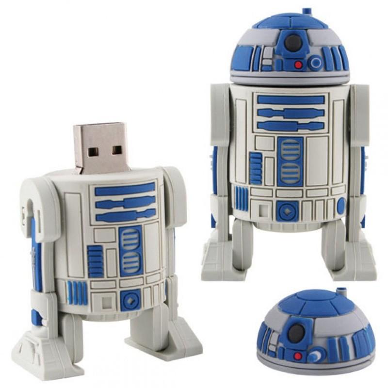 USB-flash 8Gb «R2D2»Креативные флешки<br>Материал: пластик, резина, металл <br>Объем: 8 Гб<br>