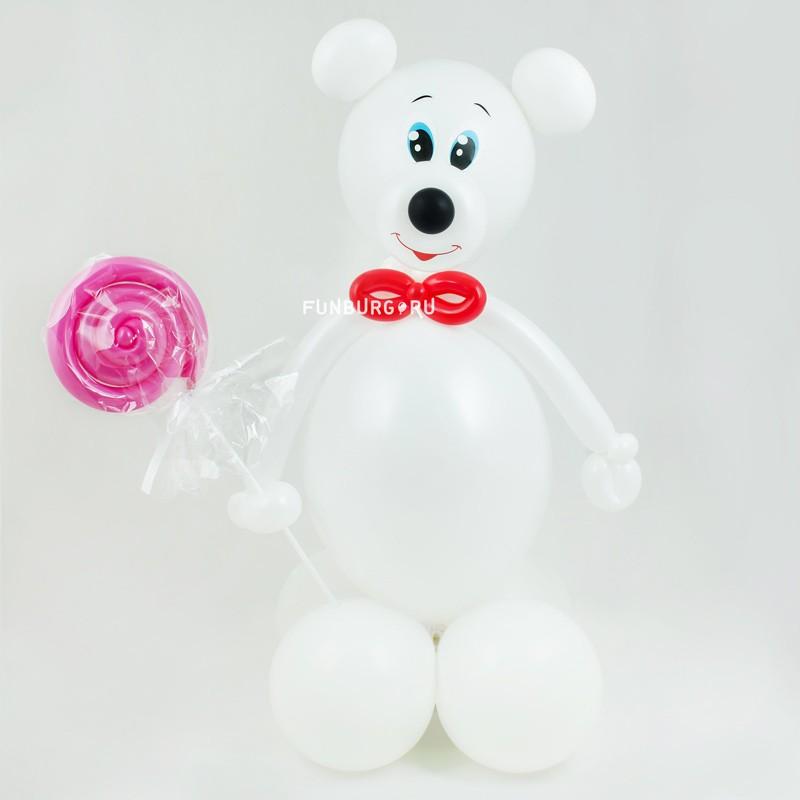 Фигура из шаров «Мишка-сладкоежка»Все фигуры<br>Высота: 60-70 см<br>Производство: Funburg.ru<br>