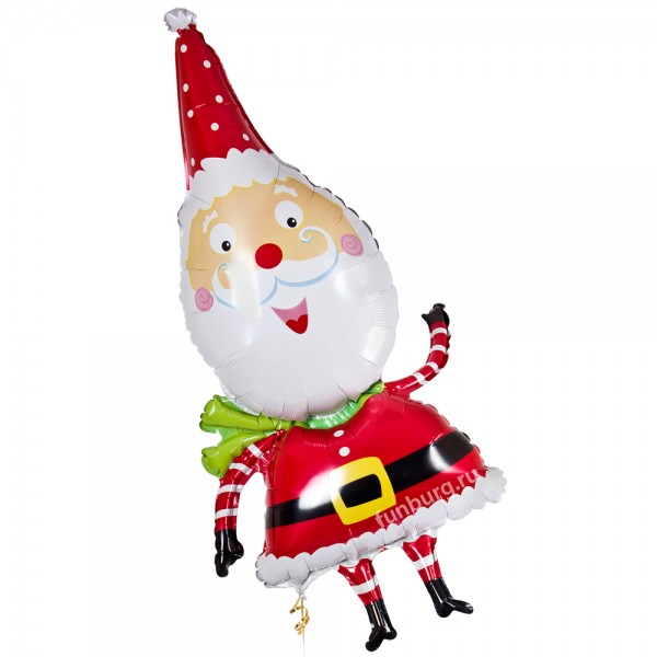 Шар из фольги «Веселый Санта»Из фольги с рисунком<br>Размер: 64 смПроизводитель: Anagram, США<br>