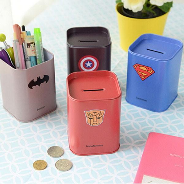 Копилка-банка «Супергерой»Супергеройские<br> <br>Размер:<br><br><br>7.8 ? 7.8 ? 10.4 см<br><br>
