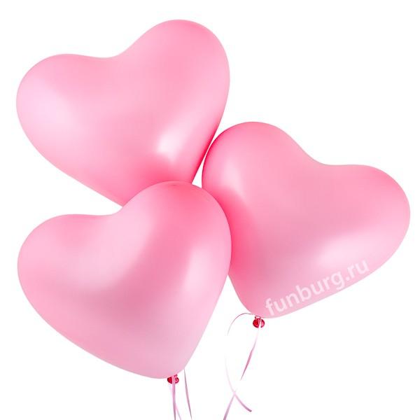 Воздушные шары (16дюймов) «Розовые сердца»В форме сердца<br>Размер: 40 см (16)Производитель: Sempertex, Колумбия<br>