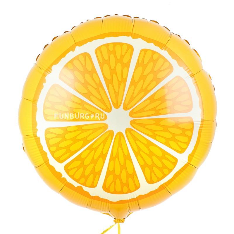 Шар из фольги «Апельсин»Из фольги с рисунком<br>Размер: 45 смПроизводитель: Flexmetal, Испания<br>